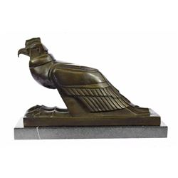 An Egyptian Style Figure of The Horus falcon Bronze sculpture