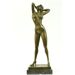 Playboy Bunny Centerfolds sexy Girl bronze Sculpture