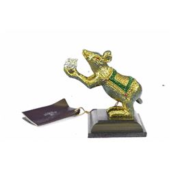 Gold Plexiglases Mouse Sculpture