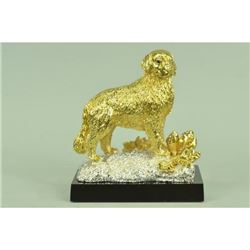 Gold Plexiglases Retriever Police Dog Statue