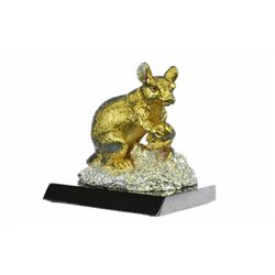 Gold Plexiglases Chinese Fengshui Statue