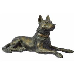 Austria Basenji Terrier Scotty Bronze Sculpture