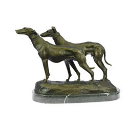 Fremont Greyhounds Racing Dog Bronze Sculpture