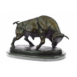 Stock Market Bull Bronze Sculpture
