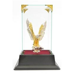Gold Plexiglases American Bald Eagle Sculpture