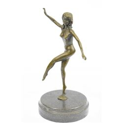 Nude Erotic Pin Up Girl Bronze Sculpture