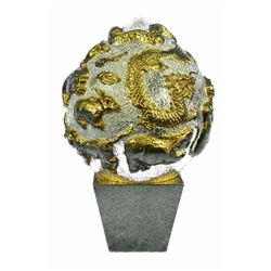 Gold Plexiglases Lucky Chinese All Zodiac Sculpture