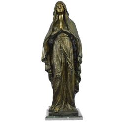 Virgin Mary Holy Statue Bronze Sculpture