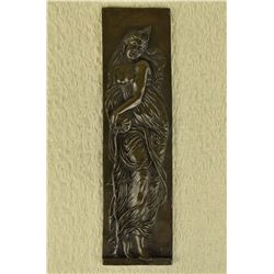 French Bronze Statue Bas Relief Sculpture