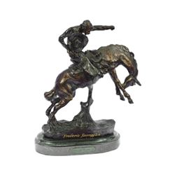 Cowboy With Horse Bronze Sculpture