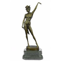 Cabaret Dancer Bronze Sculpture