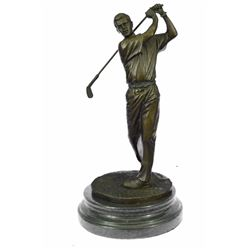 Golfer Trophy Bobby Bronze Sculpture