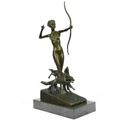 Nude Diana the Hunter Bronze Sculpture