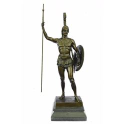 Achilles in Hoplite Uniform Bronze Sculpture