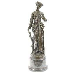 A young Maiden in Garden of Eve Bronze Sculpture