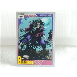 MARVEL COLLECTOR CARD IN CLEAR SLEEVE - 1991 IMPEL - NEAR MINT - #82 - BLACKOUT