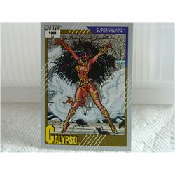 MARVEL COLLECTOR CARD IN CLEAR SLEEVE - 1991 IMPEL - NEAR MINT - #83 - CALYPSO