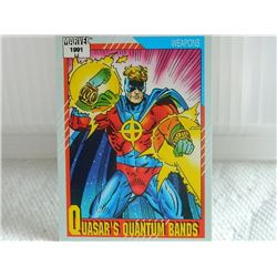 MARVEL COLLECTOR CARD IN CLEAR SLEEVE - 1991 IMPEL - NEAR MINT - #135 - QUASAR'S QUANTUM BANDS