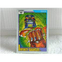 MARVEL COLLECTOR CARD IN CLEAR SLEEVE - 1991 IMPEL - NEAR MINT - #134 - INFINITY GAUNTLET