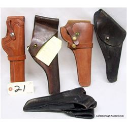 FIVE HOLSTERS