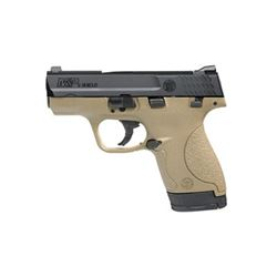 "S& W SHIELD 9MM 3.1"" FDE 7& 8RD"