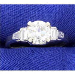 1.4ct TW Diamond Engagement Ring in Platinum