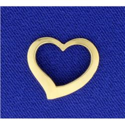14K Gold Heart Slide or Pendant
