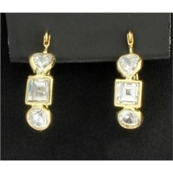 14K Modern Earrings with CZs