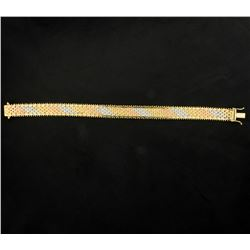 7 Inch Yellow, Rose, & White Gold Bracelet
