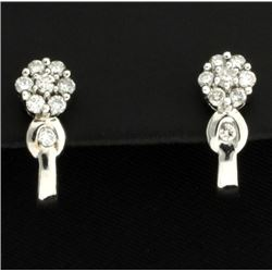 .80ct TW Diamond Flower Earrings