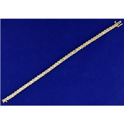 2 1/4ct TW Champagne Diamond Tennis Bracelet