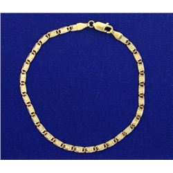 Italian Made White and Yellow Gold Bracelet