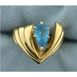 1.5ct Blue Topaz Ring in Modern Style Setting