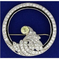 Antique Platinum Diamond Brooch Pin