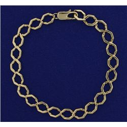 8 Inch Hexagon Curb Link Bracelet