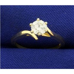 Over 1/2ct Diamond Solitaire Ring