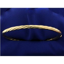 Italian Made Twisting Bangle Bracelet