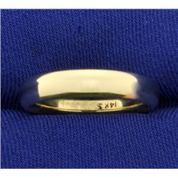 Comfort Fit Rounded Edge 4mm Gold Wedding Band