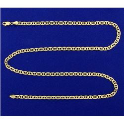 21 Inch Italian Made Anchor or Mariner Link Chain in 14k Gold