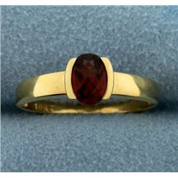 1ct Natural Garnet Gemstone Ring