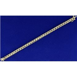 1/2ct TW Champagne Diamond Gold Bracelet