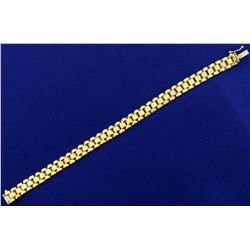 7 1/2 Inch Jubilee Link Bracelet in 10K Yellow Gold