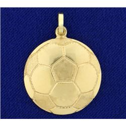 Soccer Ball Pendant in 14K Yellow Gold