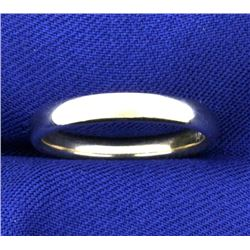 3mm Wedding Band Ring in 14K White Gold