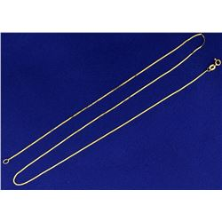 Italian Made 20 Inch Flat S Serpentine Link Neck Chain in 14K Yellow Gold