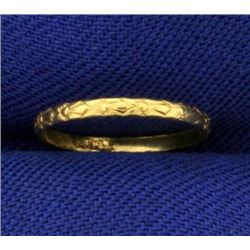 Gold Band Baby Ring in 10K Yellow Gold