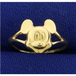 Vintage Disney Mickey Mouse Ring in 14K Yellow Gold