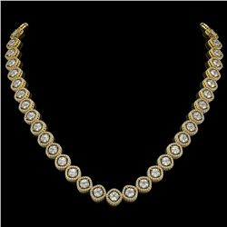 29.37 CTW Cushion Cut Diamond Designer Necklace 18K Yellow Gold - REF-5275N5Y - 42805