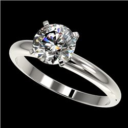 1.57 CTW Certified H-SI/I Quality Diamond Solitaire Engagement Ring 10K White Gold - REF-400X2T - 36