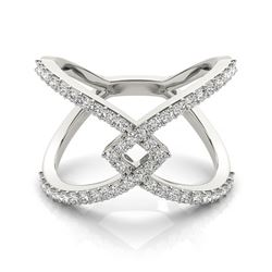 0.6 CTW Certified VS/SI Diamond Fashion Ring 18K White Gold - REF-86Y9K - 28286